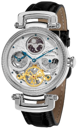 Stuhrling Original Men's 353A.33152 Magistrate Automatic Skeleton Dual Time Watch