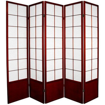 Oriental Furniture Asian Style Portable Partition, 6-Feet Zen Japanese Shoji Privacy Screen Room Div