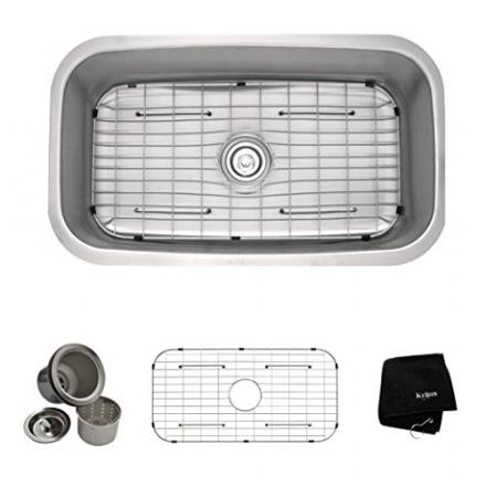 Kraus 31 1/2 inch Undermount Single Bowl 16 gauge Stainless Steel Kitchen Sink