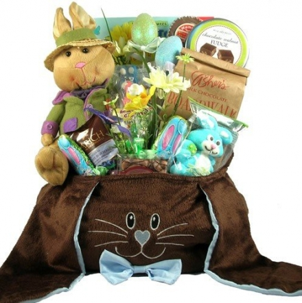 Chocolate Bunny Easter Basket