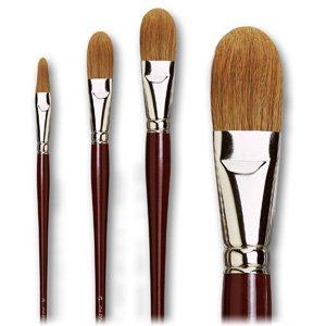 Da Vinci Series 1865 Filbert Ox Hair Oil/Acrylic Brush, Light, Size 32