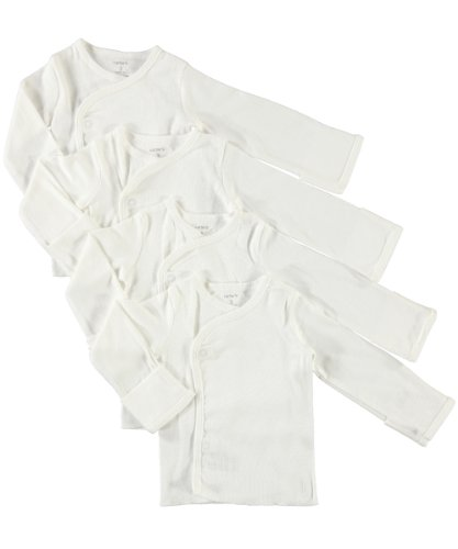 Carter's Baby Little Layette Side Snap Shirts with Built in No Scratch Flaps (3 Months)