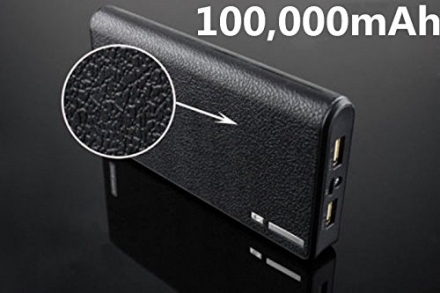 New Shop 100000mAh Portable External Power Bank Backup Battery Charger For Samsung Iphone