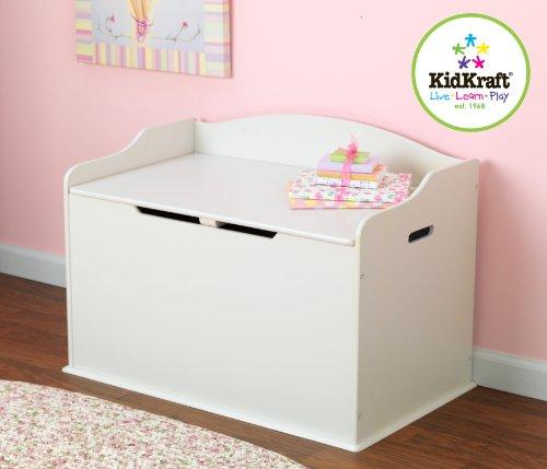KidKraft Austin Wood Toy Box Chest & Bench – White