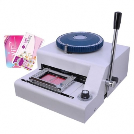 Professional ID Membership PVC Embosser Plastic Card Manual Embossing Machine