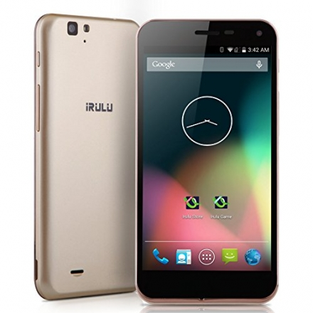 IRULU U2S 4G Smartphone Unlocked 5″Android 4.4 KitKat 2GB RAM &16GB ROM,Quad-core CPU, Dual cameras(