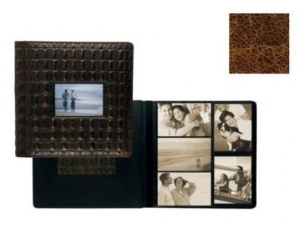 Raika VI 113-D COGNAC Frame Front Scrapbook Album – Cognac