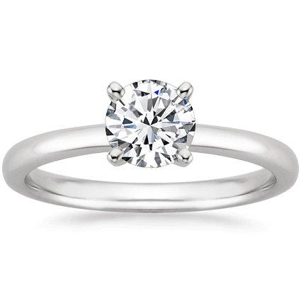 IGI Certified 1.25 Carat Round Brilliant Cut/Shape 14K White Gold Solitaire Diamond Engagement Ring