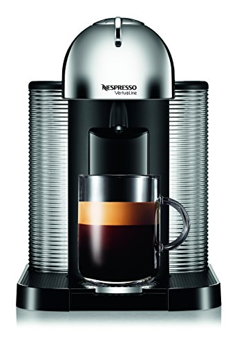 Nespresso A+GCA1-US-CH-NE VertuoLine Coffee and Espresso Maker with Aeroccino Plus Milk Frother, Chr