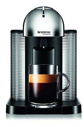 Nespresso A+GCA1-US-CH-NE VertuoLine Coffee and Espresso Maker with Aeroccino Plus Milk Frother, Chr