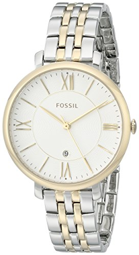 Fossil Women's ES3739 Jacqueline Two-Tone Stainless Steel Watch with Link Bracelet