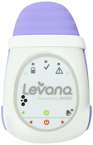 Levana Oma+ Clip-On Portable Baby Movement Monitor with Vibration Alert and Audible Alarm, White/Pur
