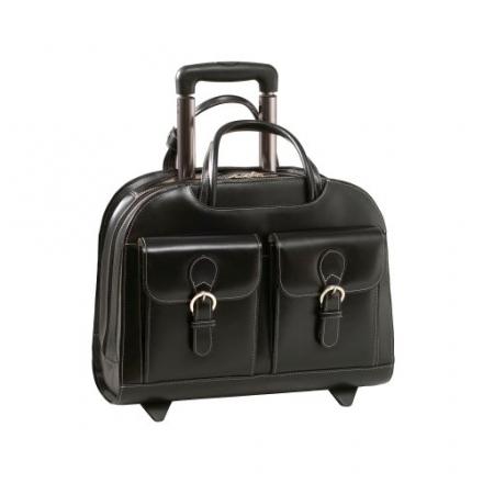 McKleinUSA DAVIS Wheeled Ladies Case for Laptop, Black (96185A)