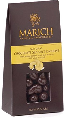 Marich Gable Cashew Sea Salt Dark Chocolate 4.5oz (6-pack)