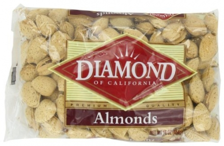 Diamond Nuts Almonds, In-shell, 16-Ounce Bags (Pack of 9)