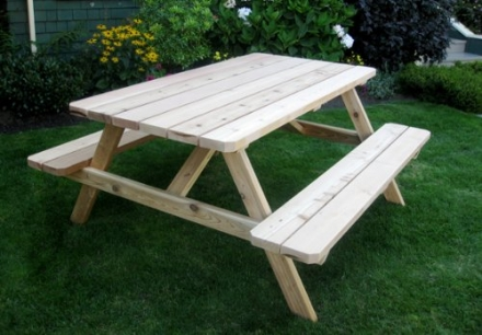 Outdoor Living Today Western Red Cedar Picnic Table