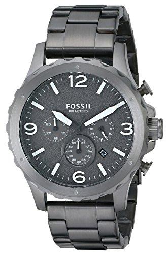 Fossil Men's JR1469 Nate Smoke Chronograph Stainless Steel Bracelet Watch