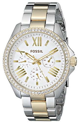 Fossil Women's AM4543 Cecile Multifunction Stainless Steel Watch – Two-Tone
