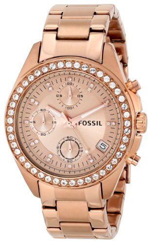 Fossil Women's ES3352 Decker Chronograph Stainless Steel Watch – Rose Gold-Tone