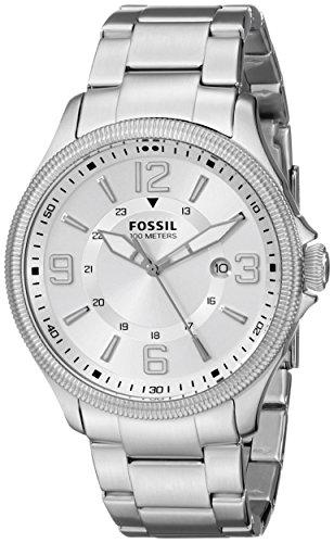 Fossil Men's FS5045 Recruiter Three-Hand Date Stainless Steel Watch