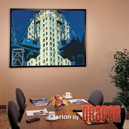 ShadowBox Clarion HiDef Grey Fixed Frame Projection Screen Viewing Area: 100″ diagonal