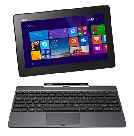 ASUS Transformer Book 10.1″ Detachable 2-in-1 Touch Laptop, 32GB Only Edition (Grey)