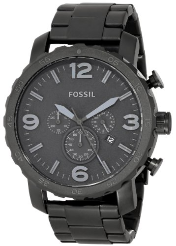 Fossil Men's JR1401 Nate Stainless Steel Watch with Link Bracelet