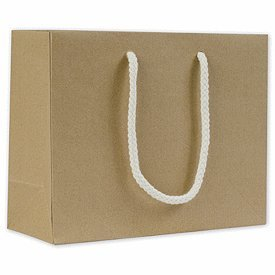 Recycled Kraft Groove Euro-Gift Bags 9 x 3 1/2 x 7″