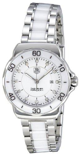 "Tag Heuer Women's WAH1315.BA0868 ""Formula 1″ Stainless Steel Sport Watch with Diamonds"
