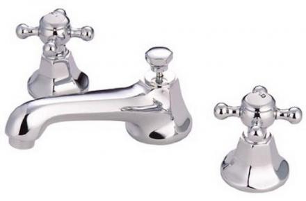 Kingston Brass KS4461BX Metropolitan Widespread Lavatory Faucet with Metal Cross Handle, Polished Ch