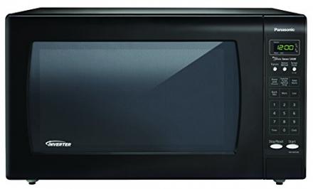 Panasonic 1250W 2.2 Cu. Ft. Countertop Microwave Oven with Inverter Technology NN-SN933B Black