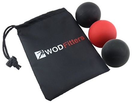 WODFitters Mobility Lacrosse Balls – Set of 3 Massage Balls for Trigger Point and Myofascial Release