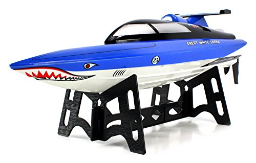 Velocity Toys Great White Shark Electric RC Speed Boat 2.4GHz 15 MPH RTR Ready To Run High Speed Boa