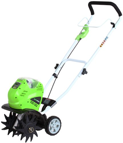 GreenWorks 27062 G-MAX 40V Li-Ion Cordless Cultivator, 4Ah Battery and Charger Inc.