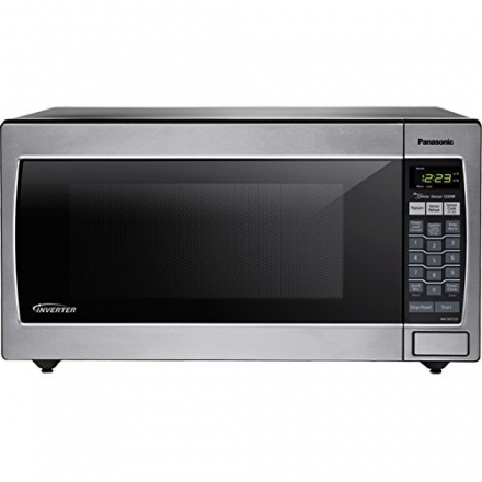Panasonic 1250W 1.6 Cu. Ft. Countertop Microwave Oven with Inverter Technology NN-SN752S Stainless