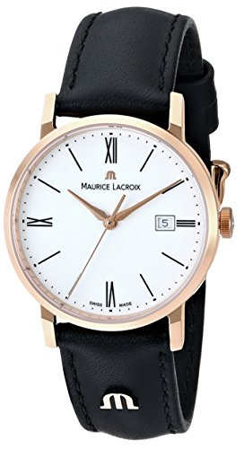 "Maurice Lacroix Women's EL1084-PVP01-110 ""Eliros"" Watch with Black Leather Band"