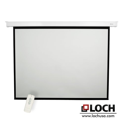 "Loch High Contrast 100"" diagonal Electric Projector Screen"