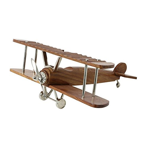 LightMakers 5133701 LightMakers The Wooden Aircraft, 46cm, Nickel/Wood