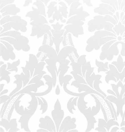 Gothic Flourish, Pearl / White, 24×100 Roll Gift Wrap