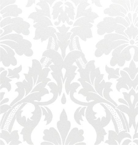 Gothic Flourish, Pearl / White, 24×100 Roll Gift Wrap