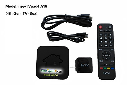 newTVpad4 A18: 4th Gen TV-Box/ Based On hTV2/ Free Gift Package