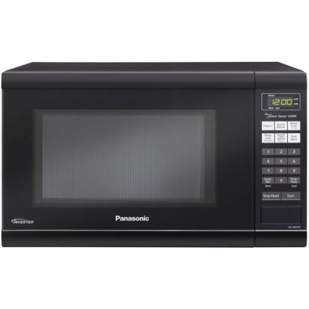 Panasonic 1200W 1.2 Cu. Ft Countertop Microwave Oven with Inverter Technology NN-SN651B Black