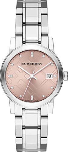 SALE! Authentic Burberry TOP LUXURY DIAMONDS Watch Womens Girls The City Precious Silver Stainless S