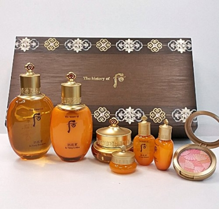 Korean Cosmetics_LG The History of Whoo Gongjinhyang In Yang 3pc Gift Set+ Free Samples/The Miracle[