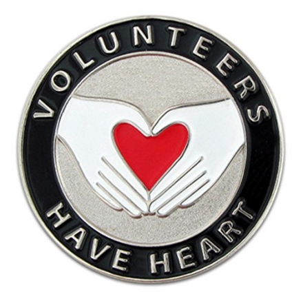 Volunteers Have Heart Pin