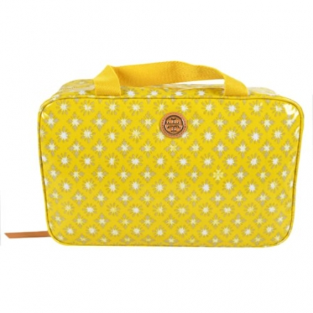 Tory Burch Classic Hanging Zip Cosmetic Case w Hook Daisy Multi (Yellow)