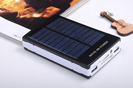 New Shop Solar 200000mAh External Battery Charger Power bank Pack Charger for iPhone ipad (Black)