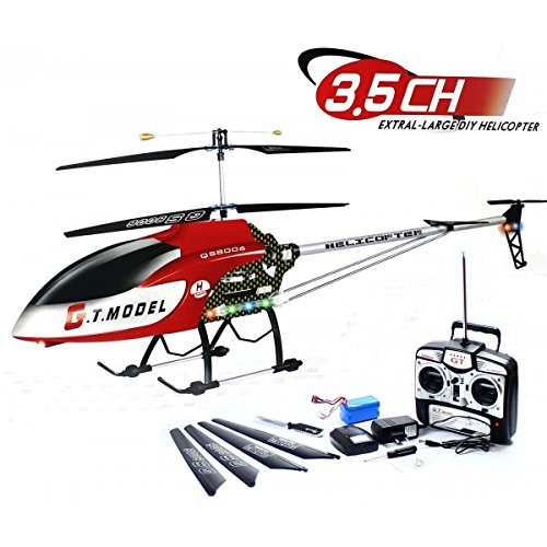 53″ Extra Large GT Model QS8006 2 Speed 3.5CH Remote Control RC Helicopter GYRO