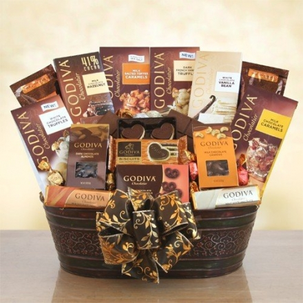 Premium Godiva Chocolate Mothers Day Gift Basket