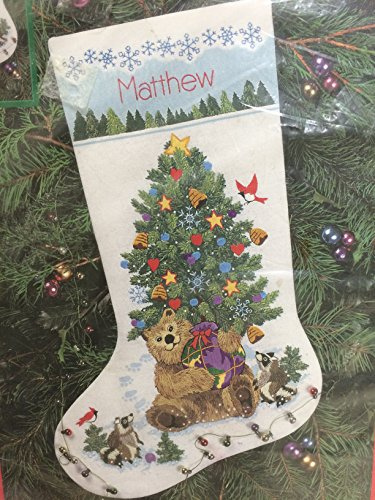 Dimensions 16″ Stocking Crewel Kit Teddy's Gift Stocking (1996)